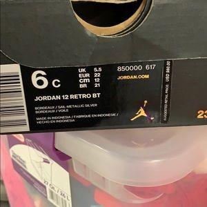 Jordan Shoes - Jordan 12 Retro Bordeaux/ Sal- Metallic Silver
